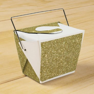Beach Themed Bright Gold Glitter Sparkles Favor Box
