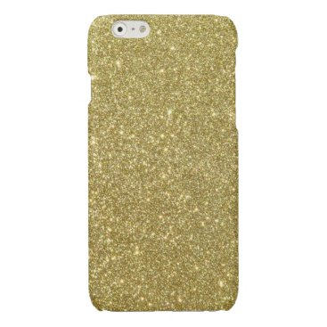 Beach Themed Bright Gold Glitter Sparkles Glossy iPhone 6 Case