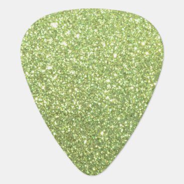 McTiffany Tiffany Aqua Bright Gold Glitter Sparkles Guitar Pick