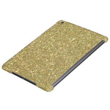 Beach Themed Bright Gold Glitter Sparkles iPad Air Case