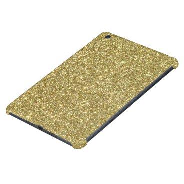 Beach Themed Bright Gold Glitter Sparkles iPad Mini Retina Case