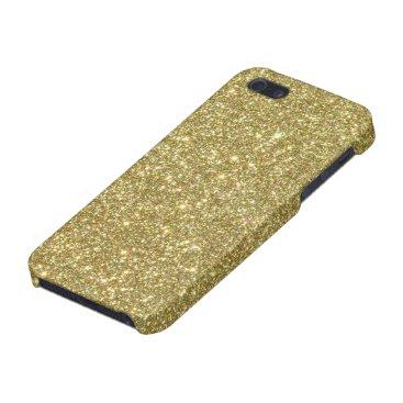 Beach Themed Bright Gold Glitter Sparkles iPhone SE/5/5s Case
