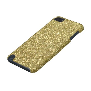 Beach Themed Bright Gold Glitter Sparkles iPod Touch (5th Generation) Cover