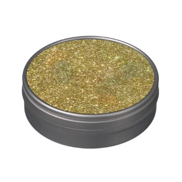 Beach Themed Bright Gold Glitter Sparkles Jelly Belly Tins