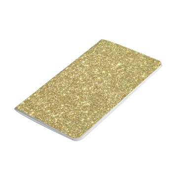 Beach Themed Bright Gold Glitter Sparkles Journal