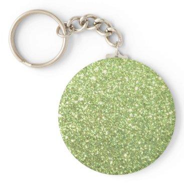 Beach Themed Bright Gold Glitter Sparkles Keychain