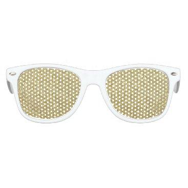 Beach Themed Bright Gold Glitter Sparkles Kids Sunglasses