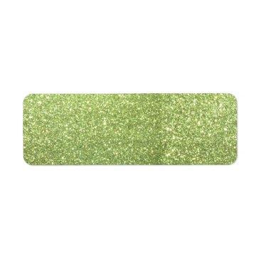 Beach Themed Bright Gold Glitter Sparkles Label