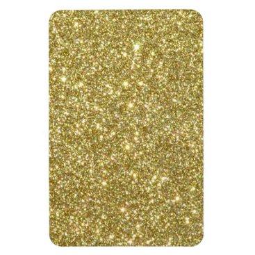Beach Themed Bright Gold Glitter Sparkles Magnet