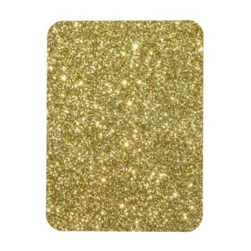 Beach Themed Bright Gold Glitter Sparkles Magnet
