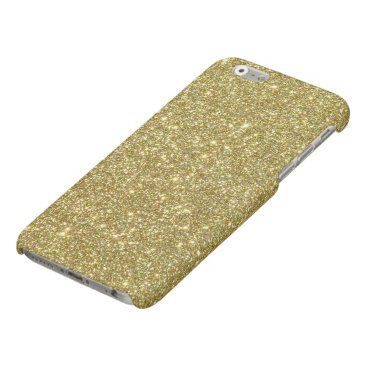 Beach Themed Bright Gold Glitter Sparkles Matte iPhone 6 Case