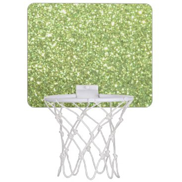 Beach Themed Bright Gold Glitter Sparkles Mini Basketball Backboard