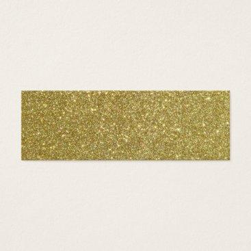 Beach Themed Bright Gold Glitter Sparkles Mini Business Card