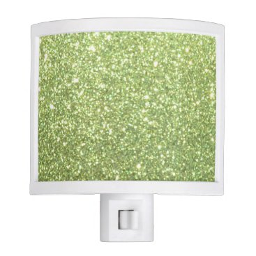 Beach Themed Bright Gold Glitter Sparkles Night Light