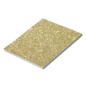 Beach Themed Bright Gold Glitter Sparkles Notepad
