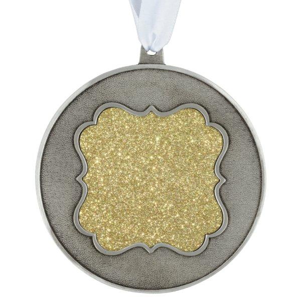 Bright Gold Glitter Sparkles Ornament