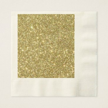 Professional Business Bright Gold Glitter Sparkles Paper Napkin