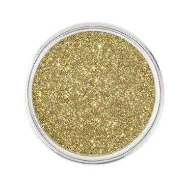Beach Themed Bright Gold Glitter Sparkles Pin