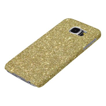 Beach Themed Bright Gold Glitter Sparkles Samsung Galaxy S6 Case