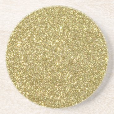 Professional Business Bright Gold Glitter Sparkles Sandstone Coaster