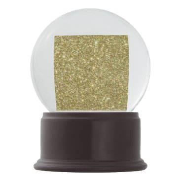 Beach Themed Bright Gold Glitter Sparkles Snow Globe