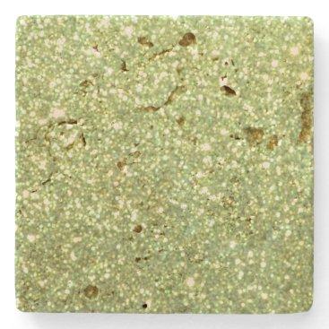 Beach Themed Bright Gold Glitter Sparkles Stone Coaster