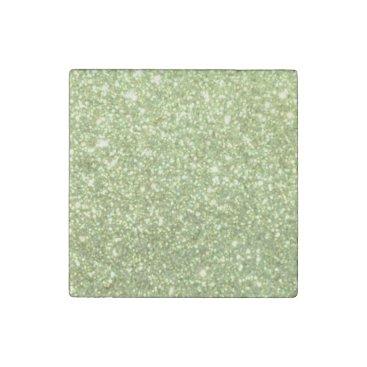 Beach Themed Bright Gold Glitter Sparkles Stone Magnet