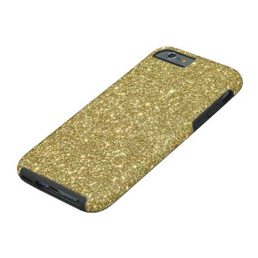 Beach Themed Bright Gold Glitter Sparkles Tough iPhone 6 Case