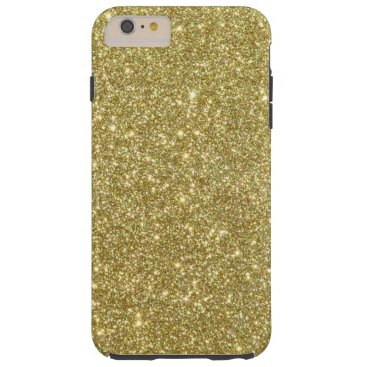 Beach Themed Bright Gold Glitter Sparkles Tough iPhone 6 Plus Case