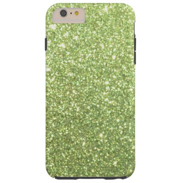 Beach Themed Bright Gold Glitter Sparkles Tough iPhone 6 Plus Case