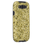 Bright Gold Sequin Effect Phone Cases Samsung Galaxy S3 Covers