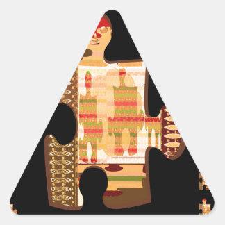 Bright Golden Sparkle QUIZ ART - Elegant GIFTS all Triangle Sticker