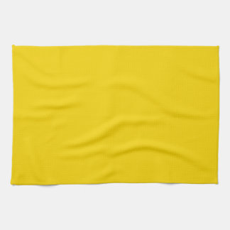 Bright Golden Yellow Color Only Custom Products Hand Towel