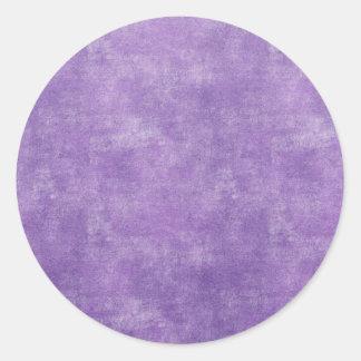 Bright grape purple classic round sticker