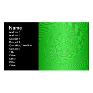 Bright Green Abstract Design Double-Sided Standard Business Cards (Pack Of 100)