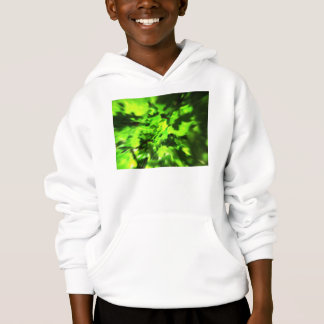Bright Green Abstract. Hoodie