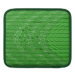 bright green abstract pattern iPad sleeves