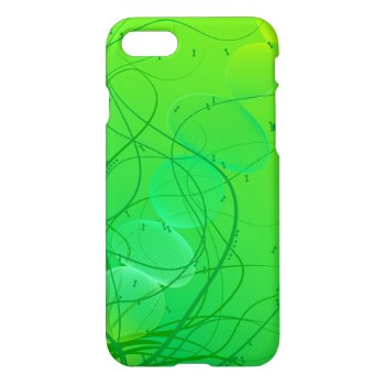 Bright Green Abstract Pattern iPhone 7 Case