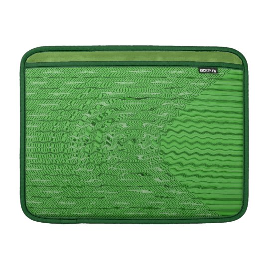 bright green abstract pattern sleeve for MacBook air