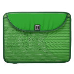 bright green abstract pattern sleeves for MacBooks