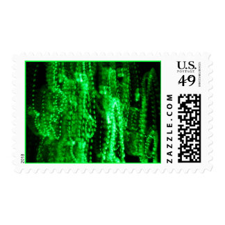 Bright Green Abstract Postage Stamp