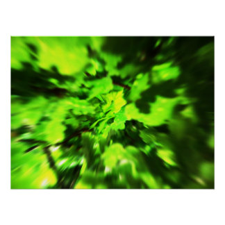 Bright Green Abstract. Poster