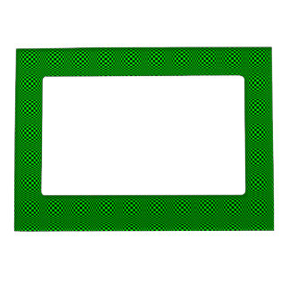 Bright Green and Black Checkered Magnetic Frame