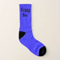 Bright Green and Blue Crazy Sox Socks