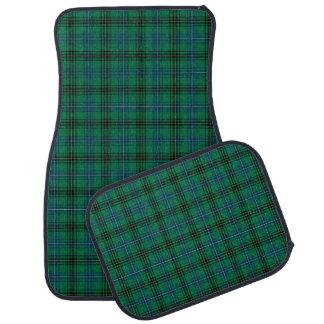 Bright Green and Blue Henderson Clan Tartan Car Floor Mat