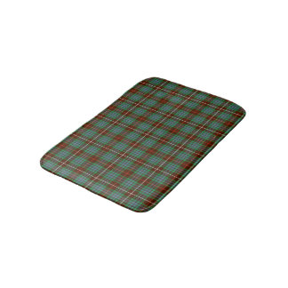 Bright Green and Brown Fraser Clan Hunting Tartan Bathroom Mat