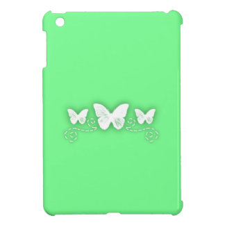 Bright Green and Ornate Butterflies iPad Mini Case