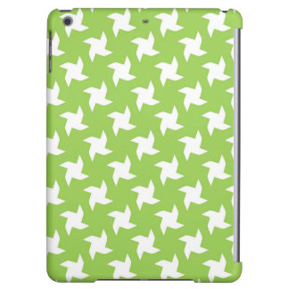 Bright Green and White Pinwheel Pattern Case For iPad Air