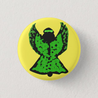 Bright Green Angel Button- Not For Pressing! Button