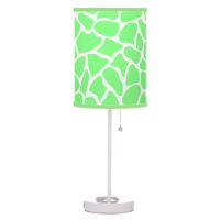 Bright Green Animal Print Giraffe Pattern Table Lamp
